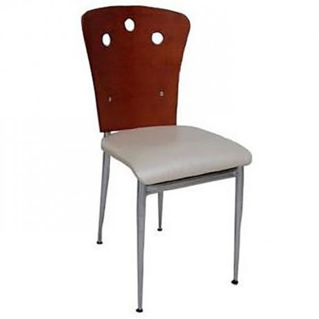 Bent Plywood Backing Lake Painted Metal Chair - ams118