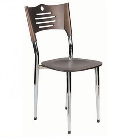 Wenge Krom Metal Sandalye - ams16