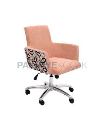Metal Legged Chromium Wheeled Polyurethane Chair