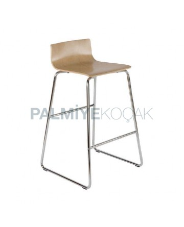 Wooden Contra Metal Bar Chair