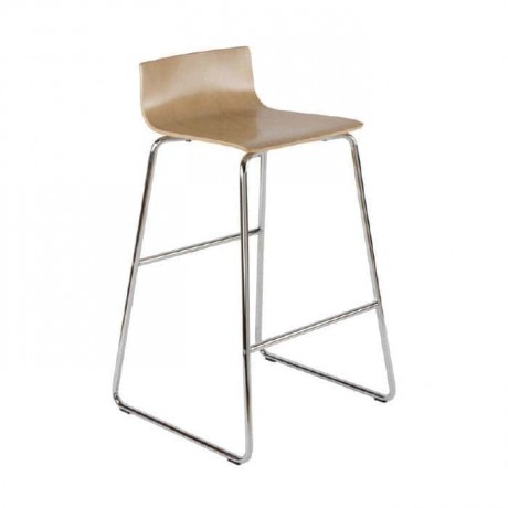 Wooden Contra Metal Bar Chair - mds15