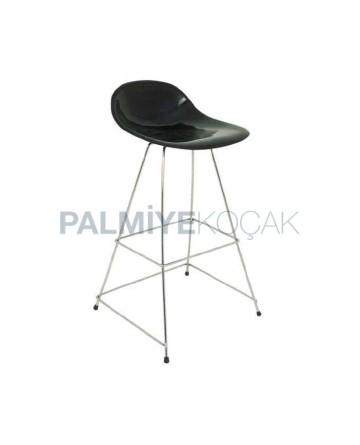 Çubuk Demirli Fiber Oturaklı Bar Sandalyesi