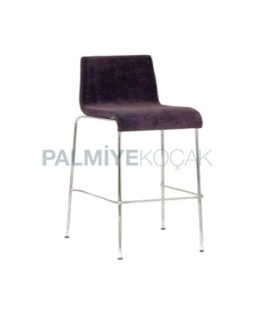 Leather Upholstered with Metal Legs