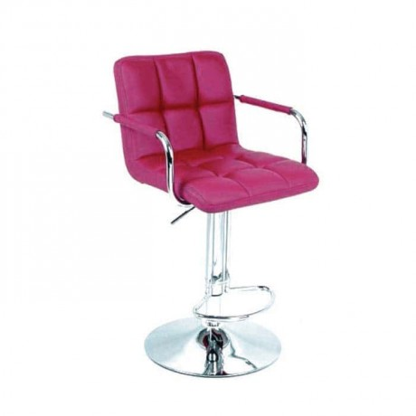 Quilted Shock Absorber Chromium Metal Bar Chair - prs07