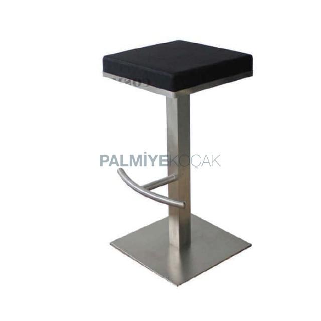 Square Base Stainless Bar Stool Model