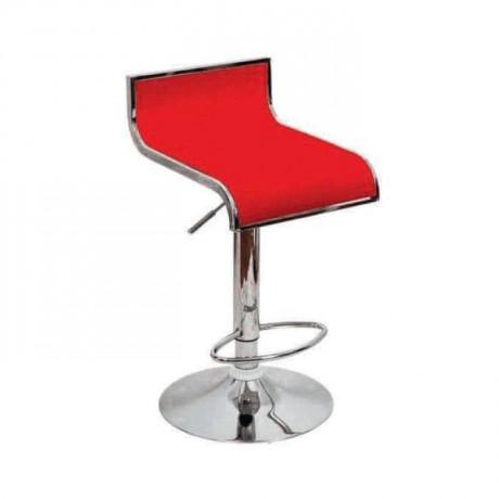 Kırmızı Fiberli Metal Bar Sandalyesi - prs11