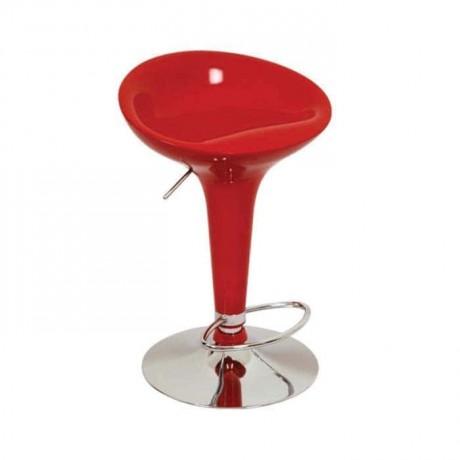 Kırmızı Fiberli Metal Bar Sandalyesi - prs20