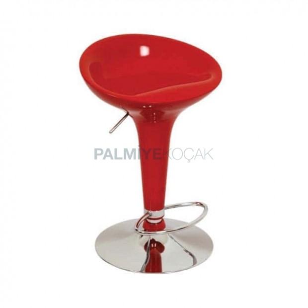 Red Fiber Metal Bar Chair