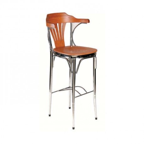 Chrome Frame Bar Stool with Arm - mbs34