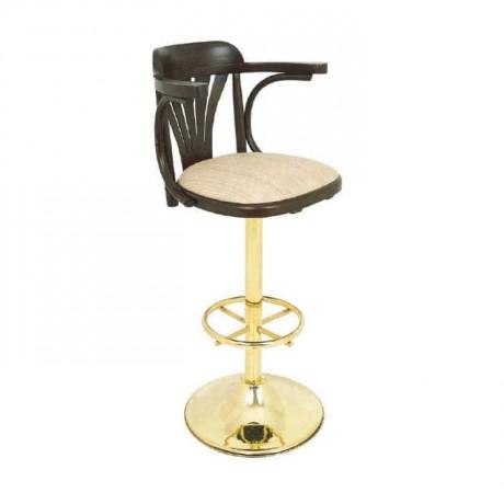 Yellow Upholstered Leg Thonet Bar Chair - mbs23
