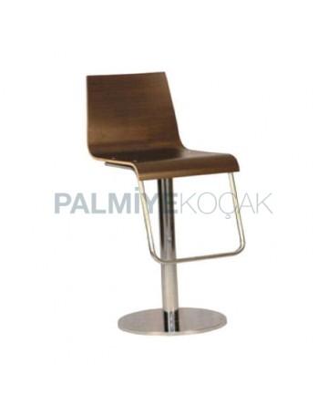 Stainless Steel Leg Contra Metal Bar Chair