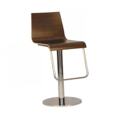 Kontralı Paslanmaz Ayaklı Metal Bar Sandalyesi - mds05