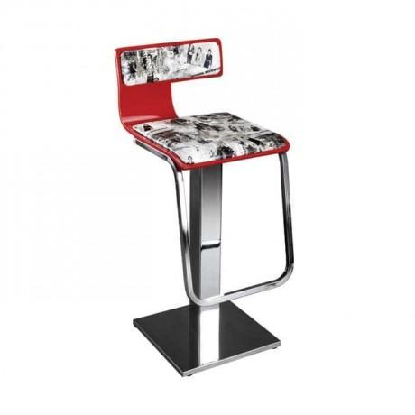 Kontralı Paslanmaz Ayaklı Metal Bar Sandalyesi - prs12