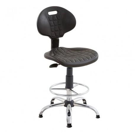 Bingo Krom Yıldız Ayaklı Laboratuvar İmalathane Sandalyesi - tcs28