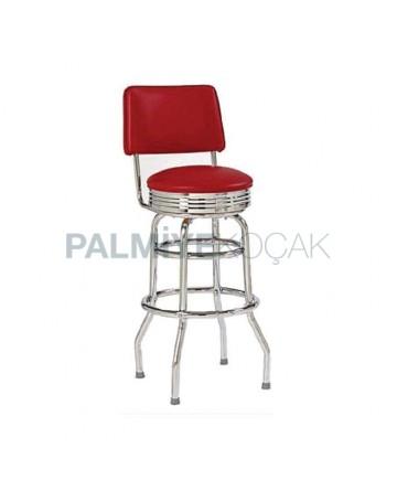 Chrome Circle Stainless Bar Chair