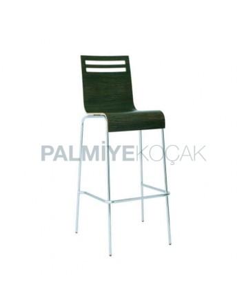 Laminate Contra Metal Leg Bar Chair