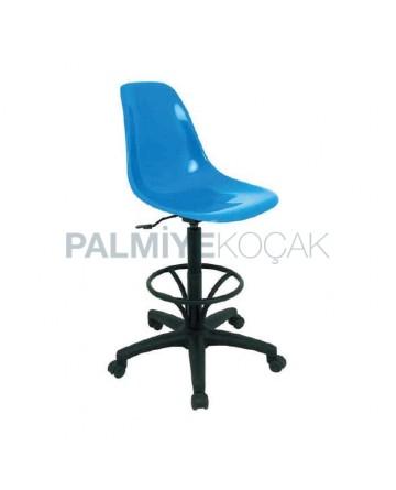 Blue Fiber Seated Bar Chair