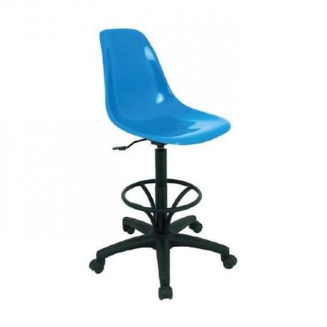 Mavi Fiber Oturaklı Bar Sandalyesi - mbs25