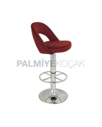 Brown Nubuck Upholstered Kitchen Bar Chair