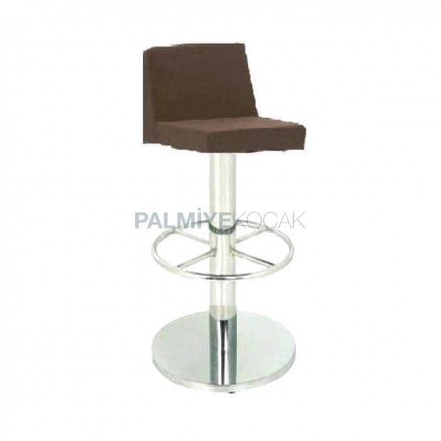 Stainless Round Based Bar Chair