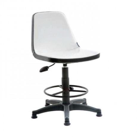 Poliuretan Oturaklı Siyah Metallı Bar Sandalyesi - tcs08