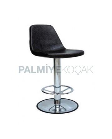 Polyurethane Sponge Black Metal Bar Chair