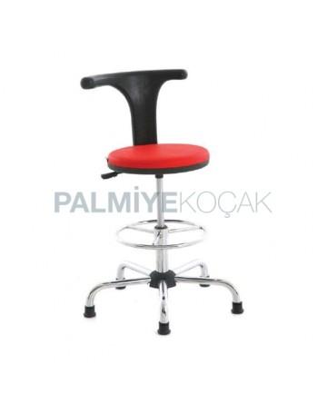 Fixed Star Chrome Leg Bar Chair
