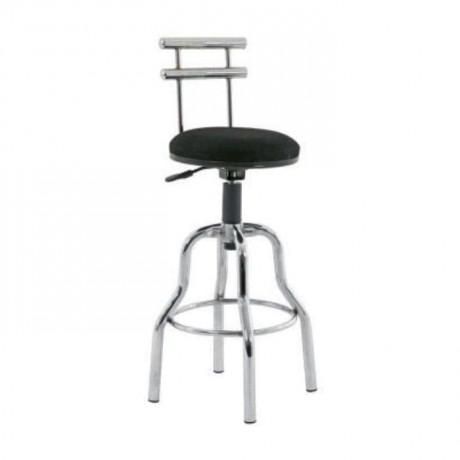 Sırtı Demirli Krom Ayaklı Metal Bar Sandalyesi - tcs21