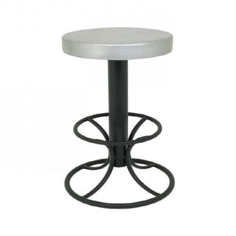 Siyah Boyalı Deri Döşemeli Mutfak Masası Bar Sandalyesi - mbs11