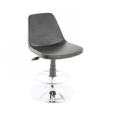 Siyah Derili Poliüretan Bar Sandalyesi - tcs06