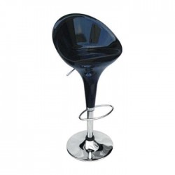 Black Fiber Metal Bar Chair