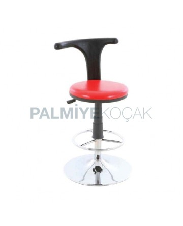 Black Red Upholstered Banko Bar Chair