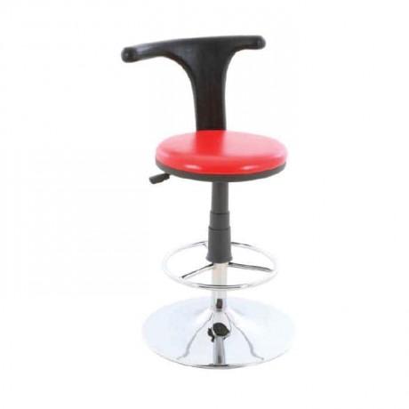 Siyah Kırmızı Döşemeli Banko Bar Sandalyesi - tcs12