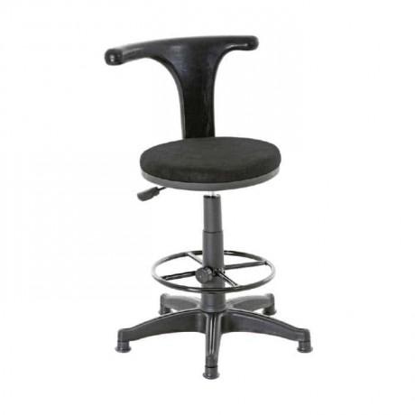 Siyah Metalli Banko Yüksek Sandalyesi - tcs15