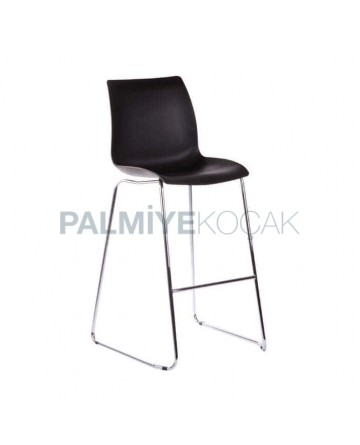 Black Plastic Seat Metal Bar Chair