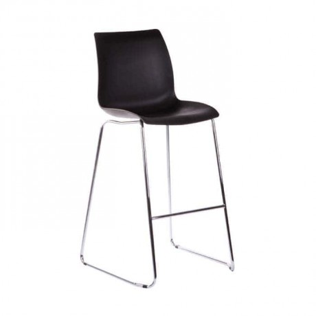 Black Plastic Seat Metal Bar Chair - mds14