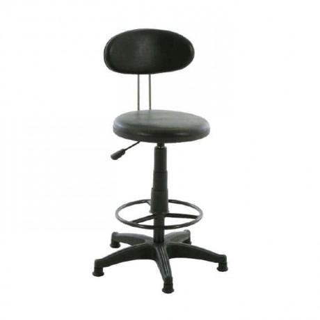 Siyah Yıldız Ayaklı Metal Yüksek Sekreter Sandalyesi - tcs18