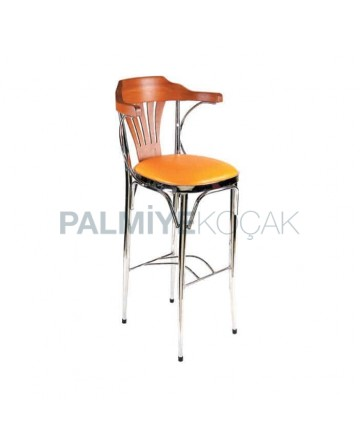 Chrome Frame Thonet Arm Bar Chair