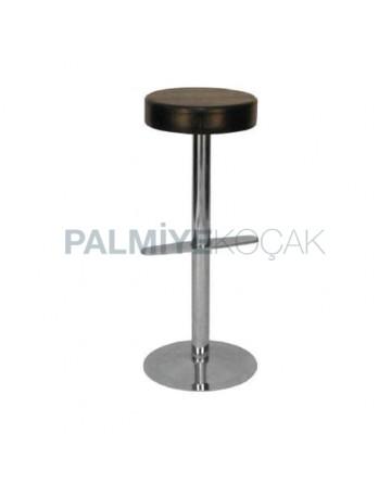 Round Seat Stainless Steel Leg Bar Stool