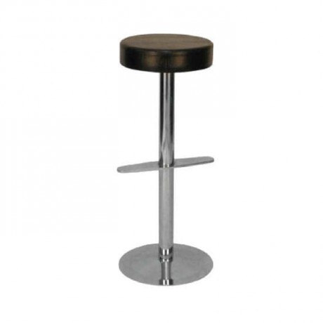Round Seat Stainless Steel Leg Bar Stool - mds09