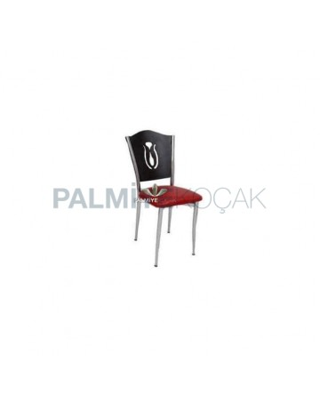 Metal Coated Wenge Restaurant Chair