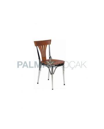 Metal Chrome Toned Chair