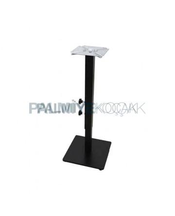 Adjustable Metal Table Base Square-Based Black Painted