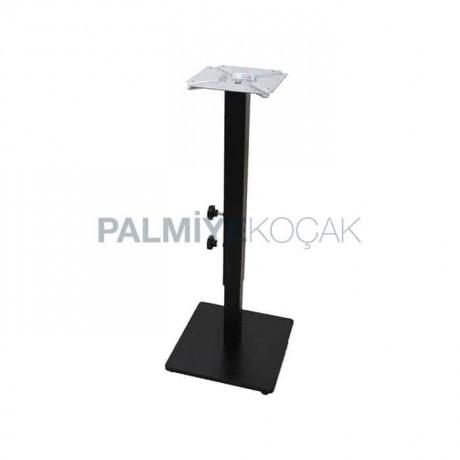 Ayarlanabilir Metal Masa Ayağı Kare Tabanlı Siyah Boyalı