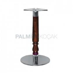 Antiqued Turned Round Base Table Leg
