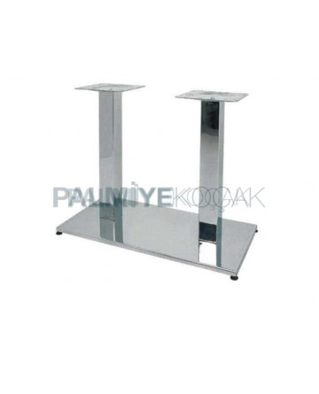 Wide Base Stainless Metal Table Leg