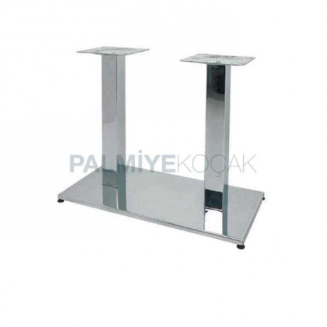 Wide Base Stainless Metal Table Leg - ast3119