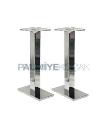 Double Stainless Metal Table Leg