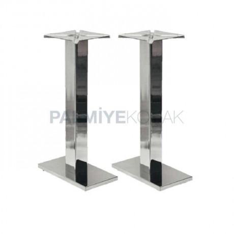 İkili Paslanmaz Metal Masa Ayağı - mtc62