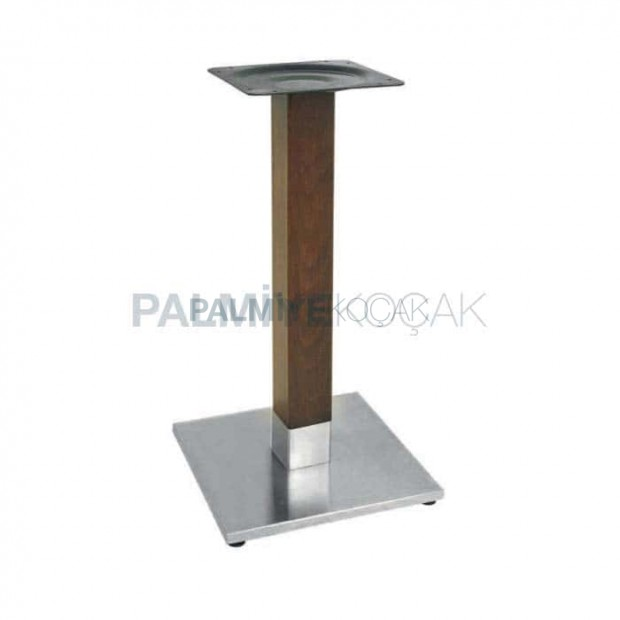 Square Base Wooden Metal Table Leg